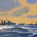 The British Cruisers Hms Exeter And Hms York  by John S Smith