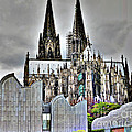 The Cathedral In Cologne On The Rhine by Eva-Maria Di Bella
