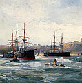 The Channel Fleet Off Scarborough by William Lionel Wyllie