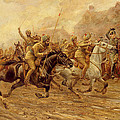 The Charge Of The Bengal Lancers At Neuve Chapelle by Derville Rowlandson
