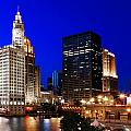 The Chicago River by Rick Berk