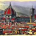 The City Of Florence by Maggie Magee Molino