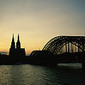 The Cologne Cathedral And Hohenzollern by Raul Touzon