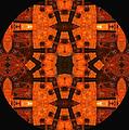 The Color Orange Mandala Abstract by Georgiana Romanovna