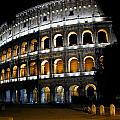 The Colosseum At Night by Jill Pro