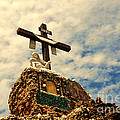 The Cross In The Grotto In Iowa by Susanne Van Hulst