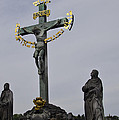 The Crucifix And Calvary - Prague by Jon Berghoff