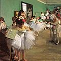 The Dance Class by Edgar Degas