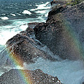 The Devils Washtub With Double Rainbow by Matthew Winn