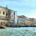 The Doge's Palace On The Grand Canal by Sarah E Ethridge