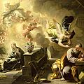 The Dream Of Saint Joseph by Luca Giordano