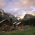 The Elizabeth Parker Hut, A Log Cabin by Michael Melford
