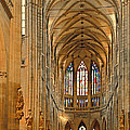 The Enormous Interior Of St. Vitus Cathedral Prague by Christine Till