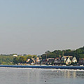 The Fairmount Dam And Boathouse Row by Bill Cannon