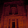 The Famous Treasury Lit Up At Night by Taylor S. Kennedy