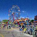 The Ferris Wheel At The Fair by Mario Carini