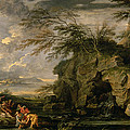 The Finding Of Moses by Salvator Rosa