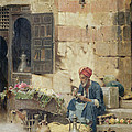 The Flower Seller by Raphael von Ambros