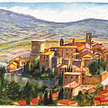 The Fortified Walled Village Of Gualdo Cattaneo Umbria Italy by Dai Wynn