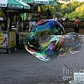 The Giant Bubble At Bethesda Terrace by Lee Dos Santos