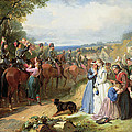 The Girls We Left Behind Us - The Departure Of The 11th Hussars For India by Thomas Jones Barker