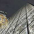The Glass Pyramid And The Louvre At Dusk by Axiom Photographic