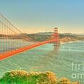 The Golden Gate Bridge  Fall Season by Alberta Brown Buller