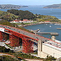 The Golden Gate Bridge North Side Overlooking Angel Island And Tiburon And Horseshoe Bay . 7d14540 by Wingsdomain Art and Photography
