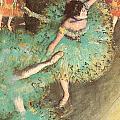 The Green Dancer by Edgar Degas
