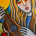 The Guitar Girl by Newton Florentino