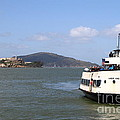 The Harbor King Ferry Boat On The San Francisco Bay With Alcatraz Island In The Distance . 7d14355 by Wingsdomain Art and Photography