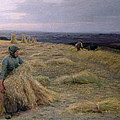 The Harvesters Svinklov Viildemosen Jutland by Knud Larsen