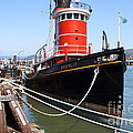 The Hercules . A 1907 Steam Tug Boat At The Hyde Street Pier In San Francisco California . 7d14137 by Wingsdomain Art and Photography