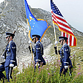 The Honor Guard Posts The Colors by Stocktrek Images