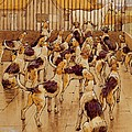 The Hounds Began Suddenly To Howl In Chorus  by Cecil Charles Windsor Aldin