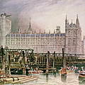 The Houses Of Parliament In Course Of Erection by John Wilson Carmichael