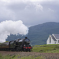 The Jacobite Express At Lochailort Church by Howard Kennedy