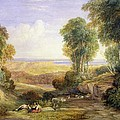 The Junction Of The Severn And The Wye With Chepstow In The Distance by David Cox
