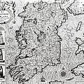 The Kingdom Of Ireland by Jodocus Hondius