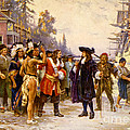 The Landing Of William Penn, 1682 by Photo Researchers