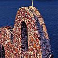 The Last Wall Standing Santorini Greece by Tom Prendergast