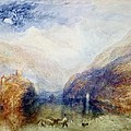 The Lauerzersee With The Mythens by Joseph Mallord William Turner