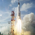 The Launch Of The Mercury-atlas 4 by Stocktrek Images