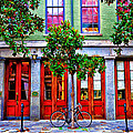 The Locked Bicycle - New Orleans by Bill Cannon