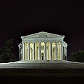 The Lonely Tourist At Jefferson Memorial by Metro DC Photography