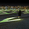 The Lonely Tourist At Pentagon Memorial by Metro DC Photography