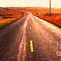 The Long Road Home . Painterly Style . Wide Size by Wingsdomain Art and Photography