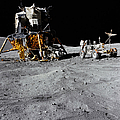 The Lunar Module And Lunar Roving by Stocktrek Images