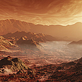 The Martian Sun Sets Over The High by Steven Hobbs