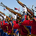 The Mongolian State Honor Guard by Stocktrek Images